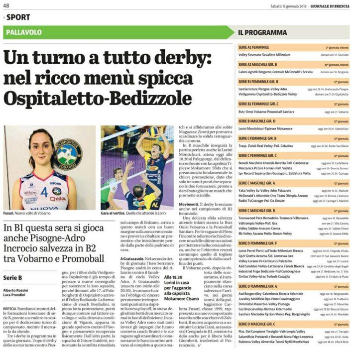 Giornale di Brescia 13.01.2018