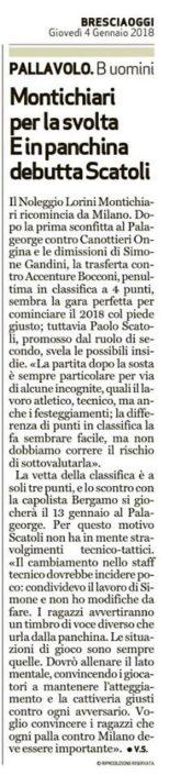 BresciaOggi 04.01.2018