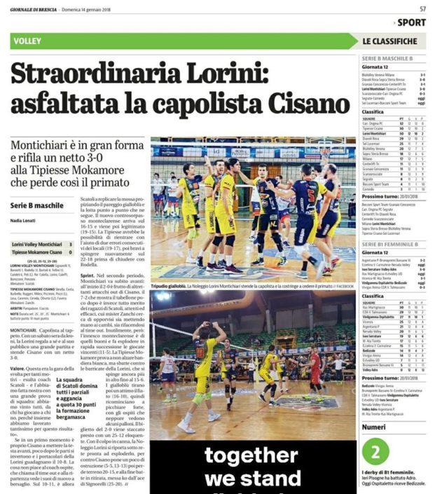 Giornale di Brescia 14.01.2018