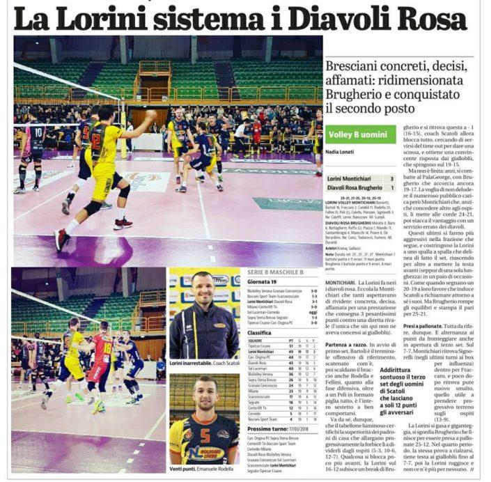 Giornale di Brescia 11.03.2018